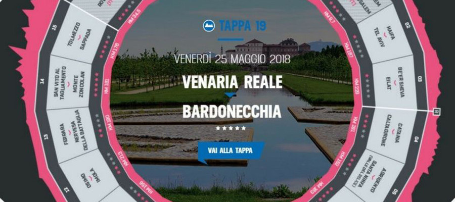 GIRO D'ITALIA – TAPPA 19: VENARIA REALE – BARDONECCHIA